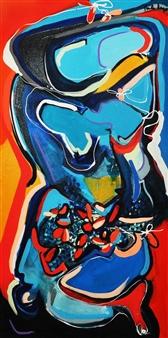 Carla Negron - Entity Mixed Media on Canvas, Mixed Media