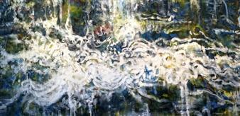 Stacie Hernandez - Black Bird Oil on Canvas, Paintings