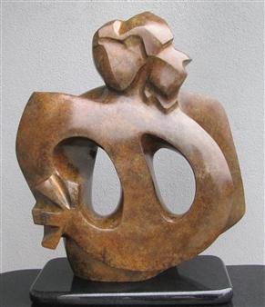 Julie Warren Conn - Back to Back Bronze, Sculpture