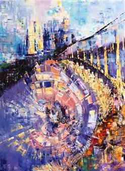 Monika Gloviczki - Bridge Oil on Canvas, Paintings