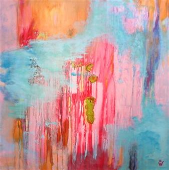 A. Cornelia Weigle - Spirit Acrylic on Canvas, Paintings