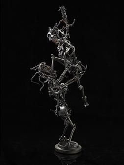Banjerd Lekkong - View 3 - Muay Thai of Woman Iron, Sculpture