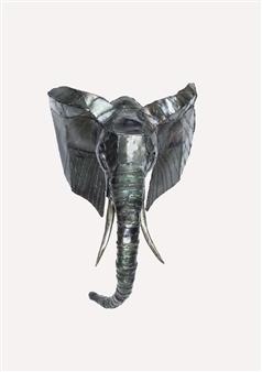 Lida Boonstra - Elephant Unicum in Steel, Sculpture