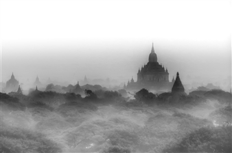 Karl Girardet - Bagan in the Myst Photograph on Hahnemühle Paper, Photography
