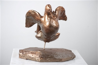 Loukas Tsevdos - Armored Peace Bronze, Sculpture