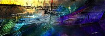 Frédérique Négrié - Luminescence 2 Digital Painting on Aluminum, Digital Art