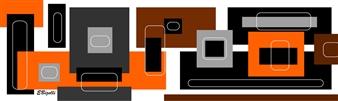 Edmonde Bizelli - Squares Mixed Media on Plexiglass, Mixed Media