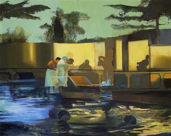 Mali Lasker - Shadows Oil on Canvas, Paintings