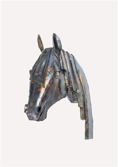 Lida Boonstra - Horse Unicum in Steel, Sculpture