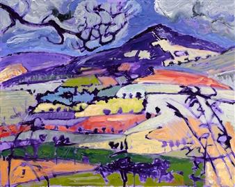 Robert Ellison - Near Shillelagh County Wicklow Acrylic on Canvas, Paintings