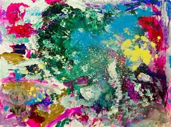 Oliwia Biela - Secret Garden Acrylic & Oil on Canvas, Paintings