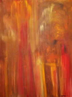 Sherry Rinderer - Stilt Acrylic on Canvas, Paintings