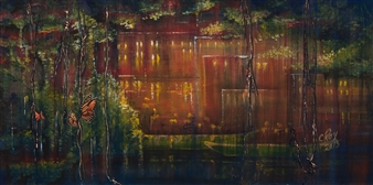 Chantal Roy - Enfouit Acrylic, Paintings