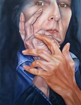 Stacie Hernandez - Contemplation Oil on Wood, Paintings