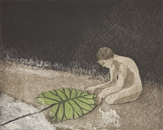 Kirsi Neuvonen - Tuonelan (Boy from Tuonela) Etching on Paper, Prints