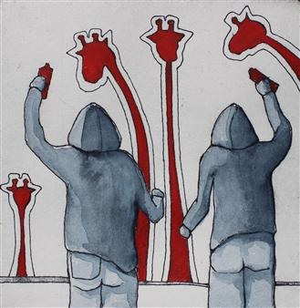 Eva Otterström - Red I Linocut, Prints