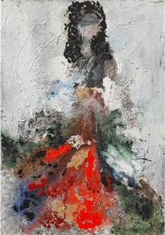 Gita Levy - The Dancer Mixed Media on Canvas, Mixed Media