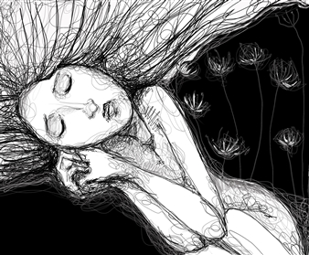 Isabel Conde Marín - In Fear Digital Art and Acrylic on Canvas, Digital Art