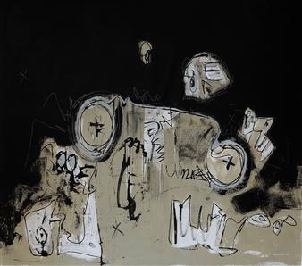 Juan Urbèt - Graffiti y Mirada Escena 28 Mixed Media on Canvas, Mixed Media