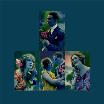 Wallace - With Flowers (Blue) Photographic Print on Fine Art Paper, Prints
