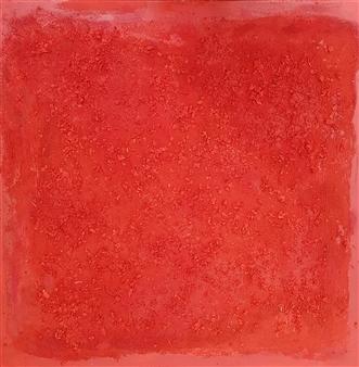 Isabelita - Red Cosmogony Mixed Media on Canvas, Mixed Media