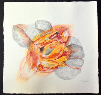 Carmen Calvin - Daring Mixed Media on Paper, Paintings