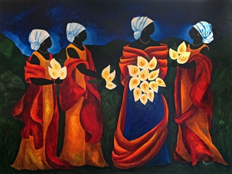 Patricia Brintle - Night Wedding Acrylic on Canvas, Paintings