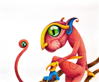 Mariana Lino - Alebrije Colored Pencils on Paper, Drawings