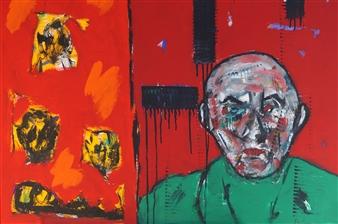 Philippe Thélin - Alone Acrylic on Canvas, Paintings