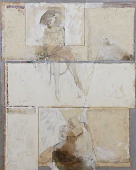 Pedro Alberti - Triangular Acrylic & Mixed Media on Canvas, Mixed Media