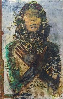 Alexandros Megas - Prayer Mixed Media on Watercolor Paper, Mixed Media