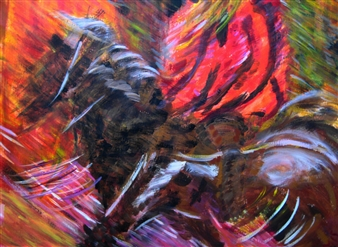 Mark Salevitz - In Motion Acrylic on Paper, Paintings