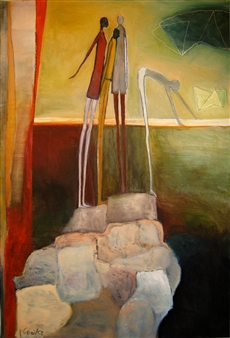 Irit Epstein - Rising Beyond the Body Oil on Canvas, Paintings