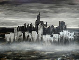 Ron Turner - Big City Oil on Canvas, Paintings