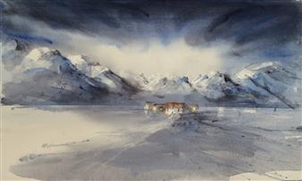 Kari Rindahl Endresen - Far North Watercolor on Paper, Paintings