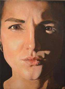 Stivi - Self Portrait Oil on Canvas, Paintings