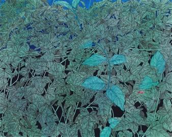 Su-Jeong NAM - A Deep Sigh Ink & Mixed Media on Canvas, Mixed Media