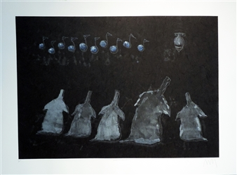 Michael McWillie - Almost Blue Monotype on Fine Art Paper, Prints