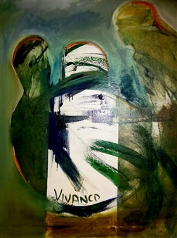 Ricardo Vivanco - The Two of Us Acrylic on Canvas, Paintings