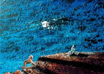 Frank M. Alba - Cyndee's World Acrylic on Canvas, Paintings
