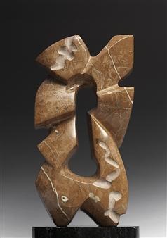 Julie Warren Conn - Fallen Angel Marble, Sculpture