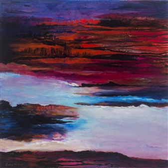 Cindy Parsley - Untrodden Ground Acrylic on Canvas, Paintings