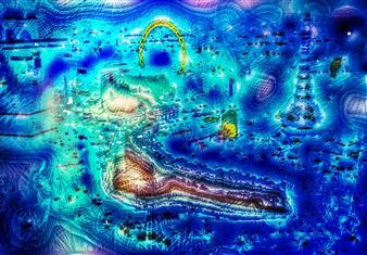 Sergey Kir - Dream of Las Vegas 2 Digital Print on Canvas, Prints