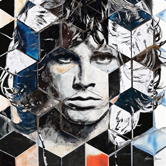 Antonio Zegarra - Jim Morrison Print on Canvas, Prints