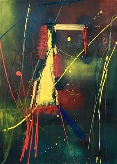 Patricia Queiruga - Colores Primarios Mixed Media on Canvas, Mixed Media