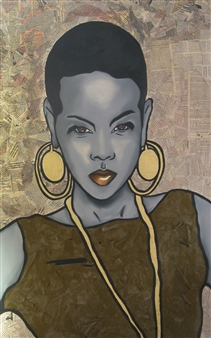 Sydnei SmithJordan - Africa Oil & Acrylic on Canvas, Paintings