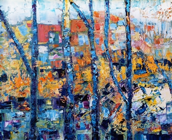 Monika Gloviczki - View Oil on Canvas, Paintings