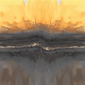 Vanitira - Volcan Ori Digital Artwork on Canvas, Digital Art