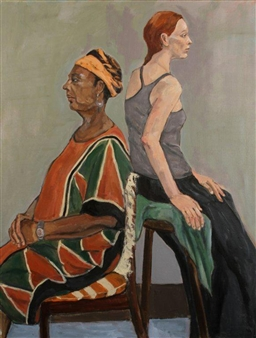 Judith Tawil - Mercedes & Cynthia Oil on Canvas, Paintings