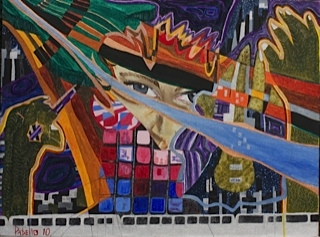 PABELLO - Music in the City Mixed Media on Canvas, Mixed Media